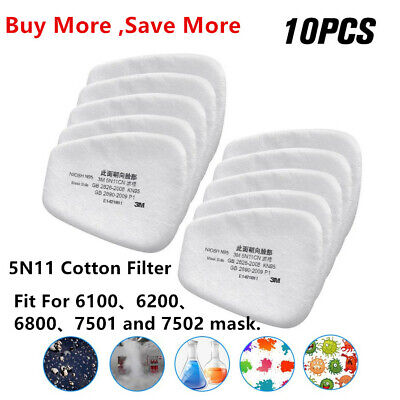 $ CDN25.26 • Buy 10/20/50PCS 5N11 Cotton Filter Replacement Filters For 6200 6800 7502 Respirator