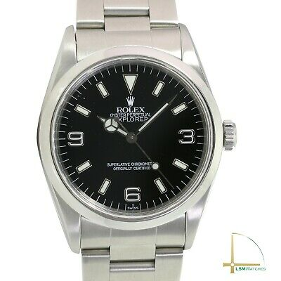 $ CDN9172.40 • Buy Rolex Explorer 14270 36mm Black Dial Automatic Steel Mens Watch W/ Box & Paper
