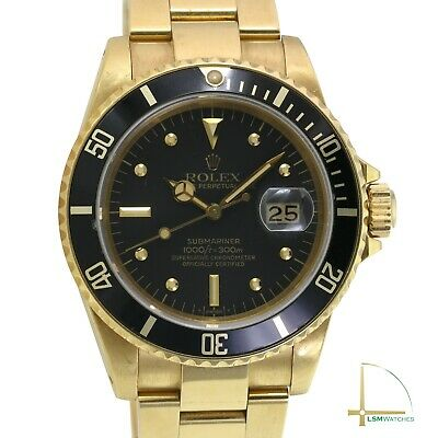 $ CDN42741.40 • Buy Rolex Submariner 16808 18KY Gold Black Nipple Dial Watch - Box&Paper UNPOLISHED