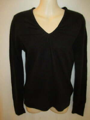 $13.95 • Buy Apt 9 100% Cashmere Black V-neck Sweater M May Fit Small XS