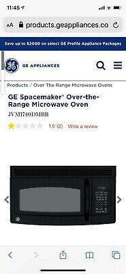$184 • Buy GE JVM3160DMBB 1.6 Cu. Ft. Over-the-Range Microwave Oven, Black