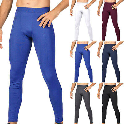 Men Compression Gym Base Layer Pants Skin Tight Leggings Trouser Fitness Bottoms • 12.15£