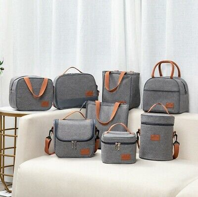 AU21.42 • Buy Portable Thermal Insulated Cooler Bento Lunch Bag Tote Family Travel Picnic