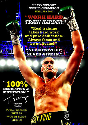 £5.99 • Buy Tyson Fury Poster - Gypsy King Motivational Boxing Quotes #21 - Print - Wall Art