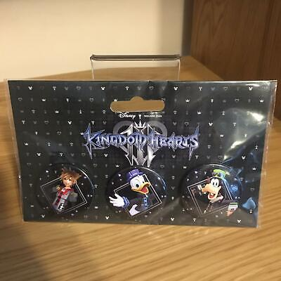 £4.46 • Buy Kingdom Hearts III 3 Badges Pins Buttons Set Official Disney Square Enix - New