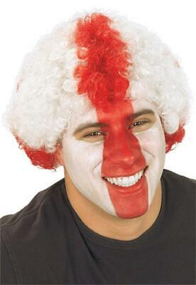 £3.99 • Buy St Georges England Red And White Afro Fancy Dress Wig
