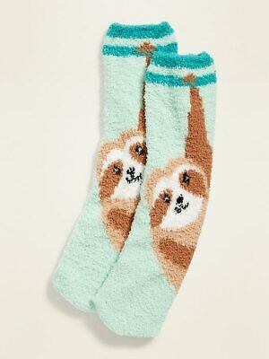 $6.99 • Buy Sloth Cozy Socks - Old Navy Women's - Fluffy Fuzzy New With Tags