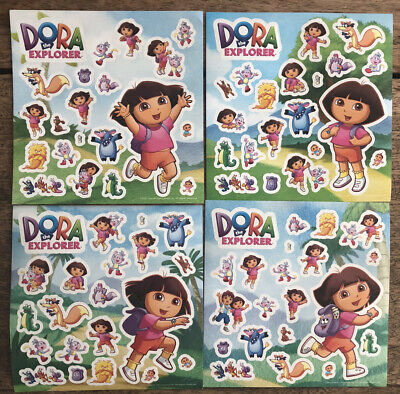 New - 4 Sheets Of DORA THE EXPLORER STICKERS - Party Bags  • 1.50£