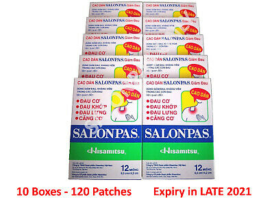 AU27.90 • Buy Salonpas Patch Pain Relieving 10 Boxes 120 Patches - Fast Shipping From Sydney