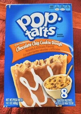 American Pop Tarts Chocolate Chip Cookie Dough 14.1oz (400g) 8 Toaster Pastries  • 5.60£