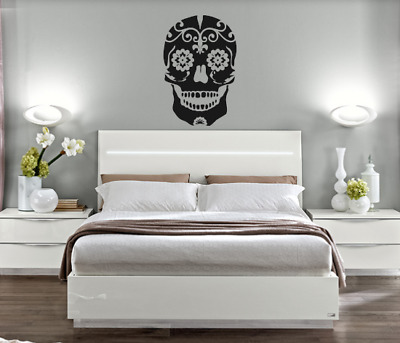 Skull Tribal Wall Art Sticker Size Large Bedroom Living Room Colours • 10£