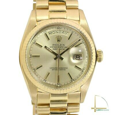 $ CDN16044.62 • Buy Rolex Day-Date 1803 18KY Gold Mens 36mm Champagne Index Fluted President Watch