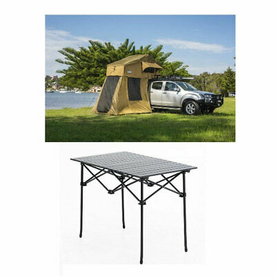 AU848 • Buy Kings Roof Top Tent With 4 Man Annex + Aluminium Roll-Up Camping Table