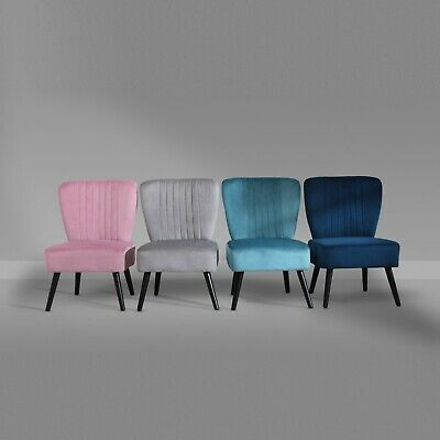 £69.99 • Buy Crushed Velvet Shell Scallop Accent Occasional Chair Armchair Dining Furniture