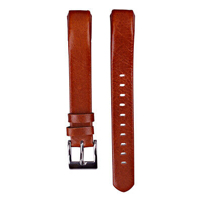AU13.81 • Buy Brown Leather Watch Band Strap For Fitbit Alta/Fitbit Alta HR Wristband