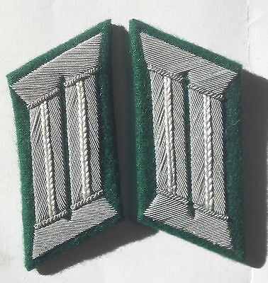 Ww2 German Army Officer Collar Tabs Infantry • 10.79£