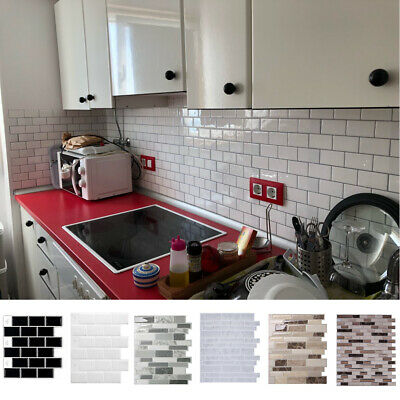 Mosaic Self-Adhesive Kitchen Backdrop Wall Tiles Stickers Peel & Stick Bathroom • 8.95£