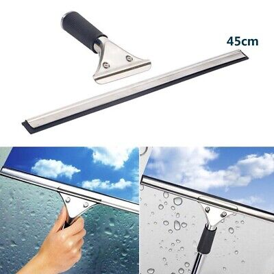 Glass Window Cleaning Squeegee Blade Wiper Cleaner Home Shower Bathroom 45cm • 5.99£