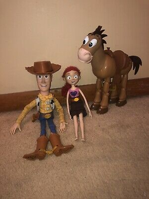 £19.35 • Buy Original Pixar Woody Doll Toy Story With Hat Bundle With Jessie And Bullseye