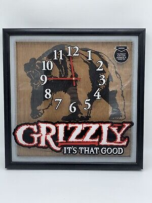 $ CDN36.07 • Buy Grizzly Smokeless Chew Tobacco Snuff Wall Clock New It's That Good