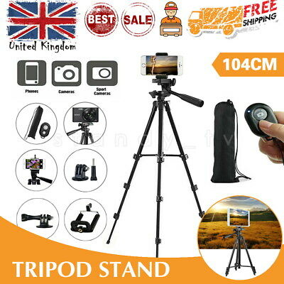 Universal Mobile Phone Tripod Stand Grip Holder Mount For Cameras Phones Travel • 9.19£