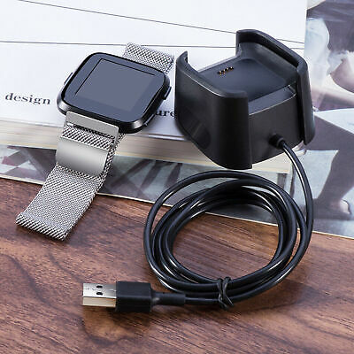 $ CDN8.11 • Buy For Fitbit Versa Smart Watch USB Charging Cable Power Charger Dock Cradle Stand