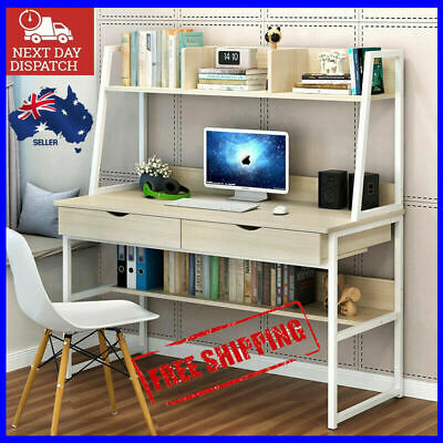 AU225 • Buy Large Computer Desk Workstation Shelves Drawers Study Table Home WHITE Or BLACK