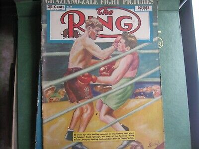 $19.99 • Buy October 1947 The Ring  Magazine With Dempsey-tunney       Grobee1957