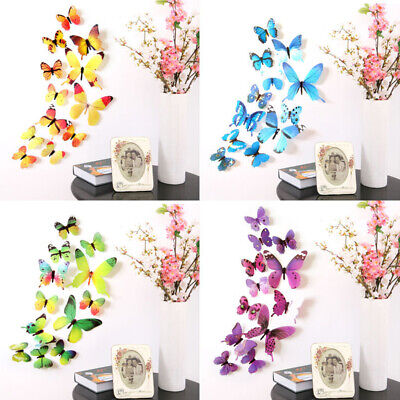 AU3.92 • Buy 12Pcs 3D Beautiful Lovely Butterflies Wall Stickers Home Decors Kids' Room