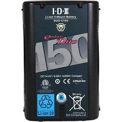 IDX DUO-150 Enduro V Mount Li-ion 146Wh Battery 2x D Tap And USB, New / NEW • 260£