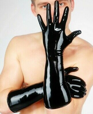 Fetish Bondage Rubber Latex Elbow Fisting Gloves 1520 Catsuit Kinky Sexy • 26.99£