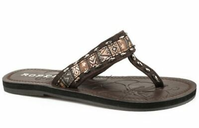 $20 • Buy Roper Womens Brown Leather Debbie Sandals - Size 9