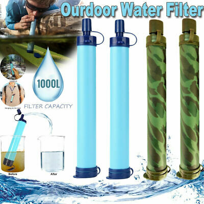 $24.99 • Buy Outdoor Portable Water Filter Straw Purifier Emergency Survival Tools Camping