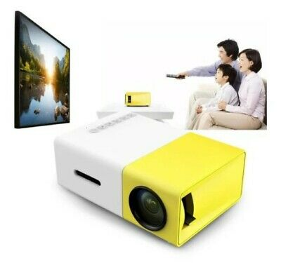 AU84.95 • Buy 600 Lumens Mini Led Home Theatre Projector Full Hd 1920X1080 Portable Yellow
