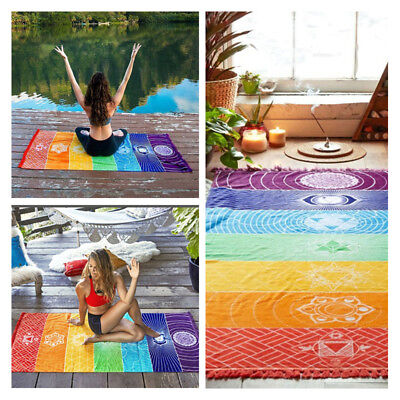 1pcs Colorful Tapestry Towel Yoga Mats  Fitness Summer Beach Blanket Tapestry • 8.45£