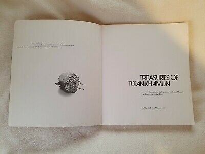 TREASURES OF TUTANKHAMUN  ILLUSTRATED BOOK By BRITISH MUSEUM 1972 • 50£