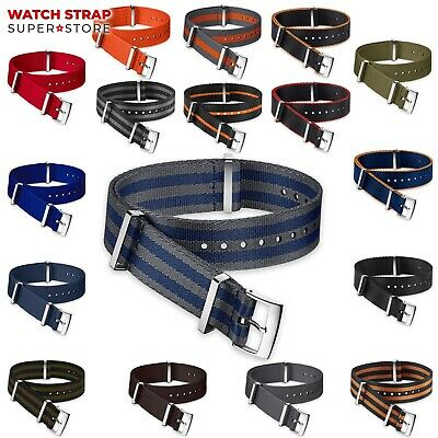 NATO Watch Strap Band DIVERS G10 Military NYLON Fabric Army Men's Buckle Clasp • 9.90£