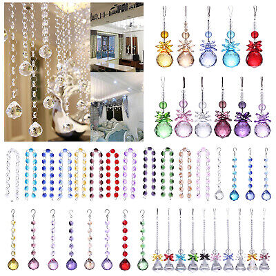 Crystal Glass Door String Tassel Curtain Beads String Hanging Pendant Chain Home • 2.31£