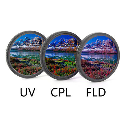 UV+CPL+FLD Lens Filter Set With Bag For Cannon Nikon Sony Pentax Camera Lens RC • 8.60£