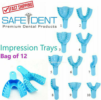 $5.35 • Buy Dental Perforated Plastic Impression Trays Autoclave (CHOOSE SIZE) (1 Bag Of 12)