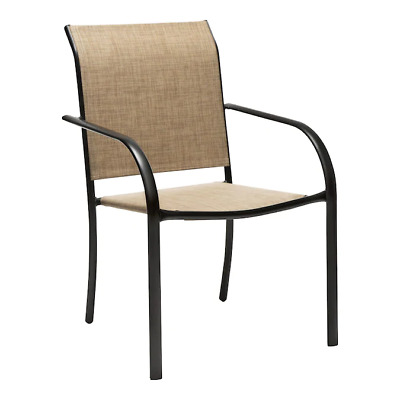 $36.95 • Buy Pelham Bay Metal Dining Chair Tan Sling Sheet - Outdoor Patio Garden Chair