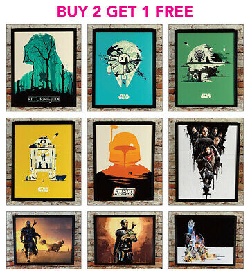 £5.90 • Buy STAR WARS Vintage Style Posters A2/A3/A4 Size Wall Art Picture Prints