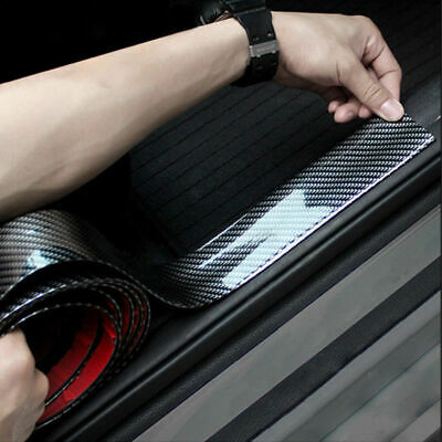 $12 • Buy Parts Accessories Carbon Fiber Vinyl Car Door Sill Scuff Plate Sticker Protector