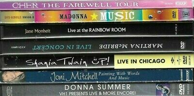 $ CDN24.78 • Buy MUSIC DVDs LOT OF 7 FEMALE ARTISTS  ASSORTED MUSIC/CONCERT /LIVE/ FREE SHIPPING