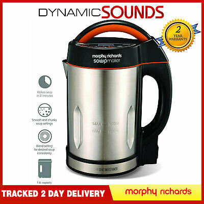 Morphy Richards Soup Maker 1.6 L - 3 Settings With Blender Lid - Stainless Steel • 49.75£