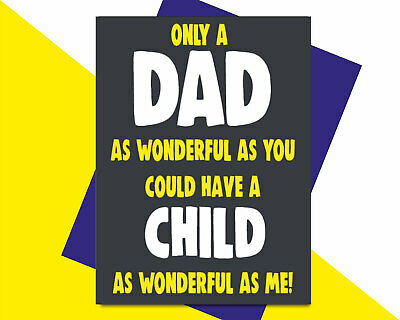 £2.89 • Buy Funny Fathers Day Card Birthday For Dad Daddy Wonderful As Me F72