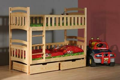 Bunk Bed Bunk Bed Loft Bed Bed Double Bed Kid's Bed Wood Made IN Eu • 386.10£