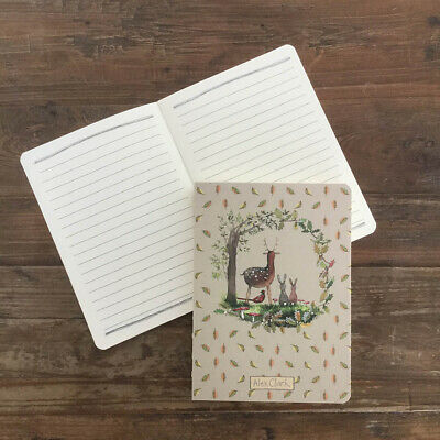 £6.50 • Buy Alex Clark Into The Woods Naked Spine Notebook - Deer Hare Pheasants (nk11)