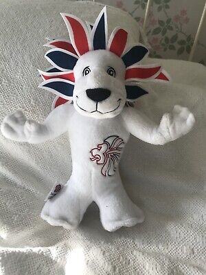 London 2012 Lion Olympic Games Team GB Mascot Soft Toy Plush Collectible • 3£