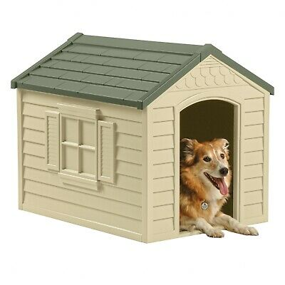 $98.99 • Buy XL Large Dog Kennel OUTDOOR PET CABIN INSULATED HOUSE BIG CAGE